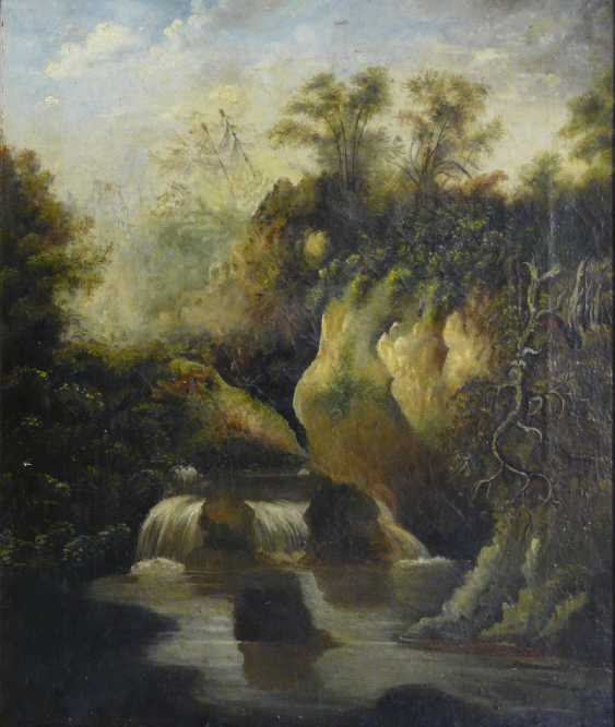 English artist, a waterfall in Yorkshire (?) - photo 1