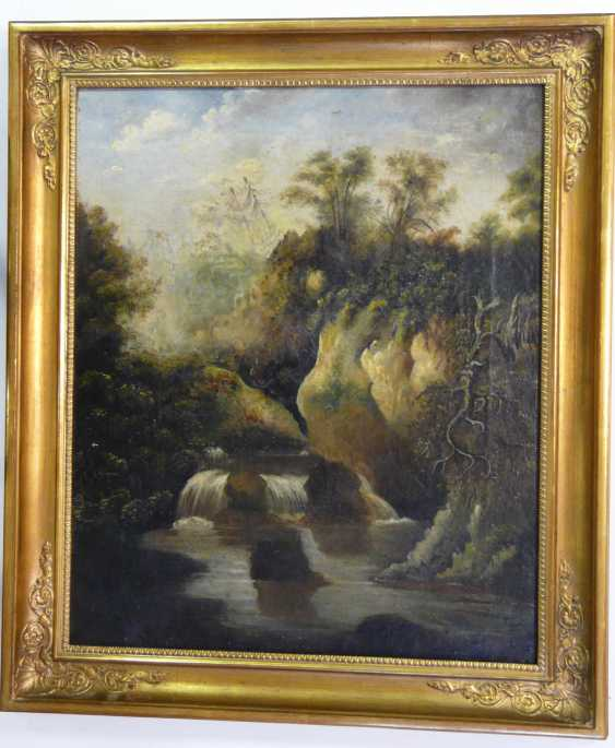 English artist, a waterfall in Yorkshire (?) - photo 2