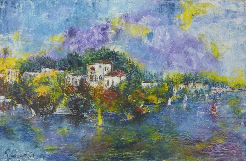 Pierre Boffin, a port city in the Mediterranean (Italian ?) Landscape  - photo 1