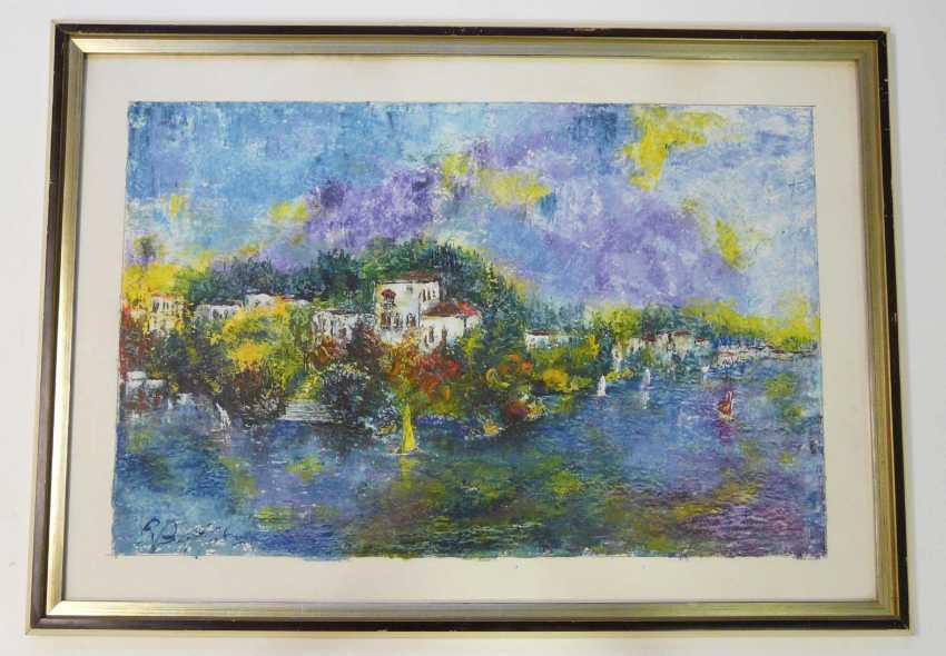 Pierre Boffin, a port city in the Mediterranean (Italian ?) Landscape  - photo 2