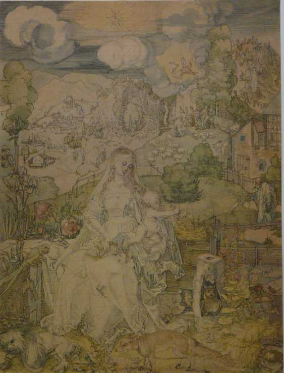"""Referred to as """"Heller"""", The mother of God with the boy Jesus in the landscape - photo 1"""