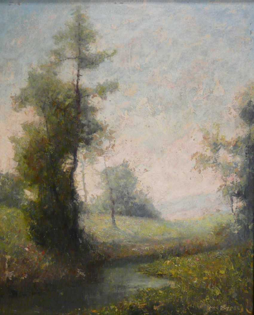Otto Pippel, spring in the blossoming meadow landscape  - photo 1