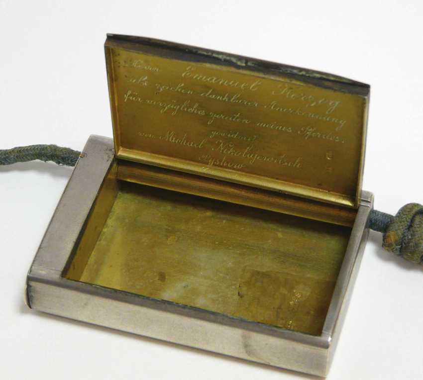 Feine russische Silber - Snuff-box of the Freiherrn Emanuel Herzog - photo 2