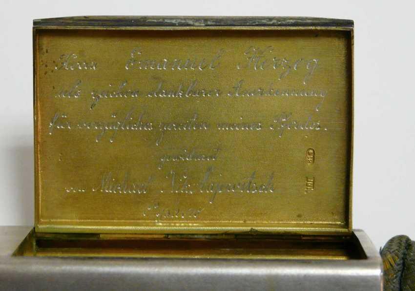 Feine russische Silber - Snuff-box of the Freiherrn Emanuel Herzog - photo 3
