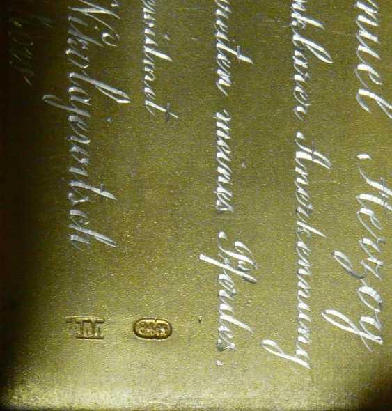 Feine russische Silber - Snuff-box of the Freiherrn Emanuel Herzog - photo 5