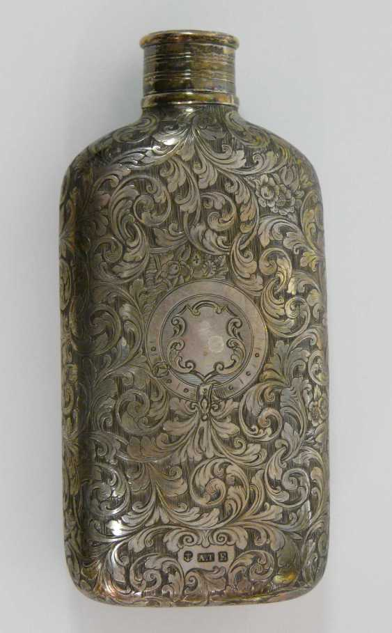 English Silver Hip Flask 1853 - photo 1