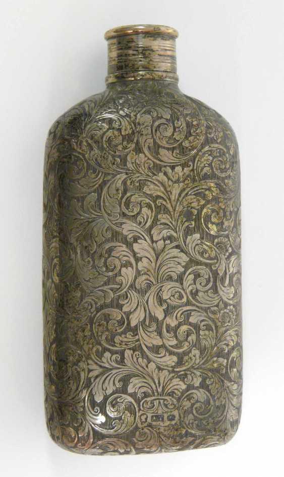English Silver Hip Flask 1853 - photo 2