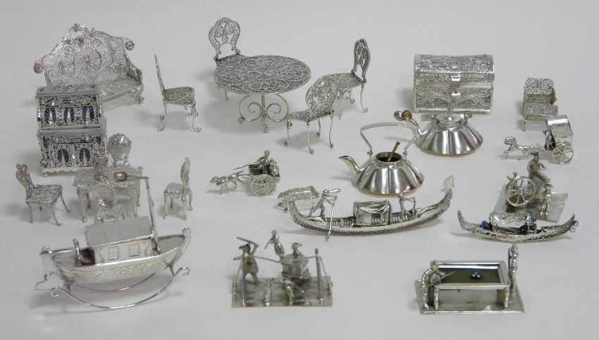 Large collection of Miniatures (silver, silver Plated) - photo 1