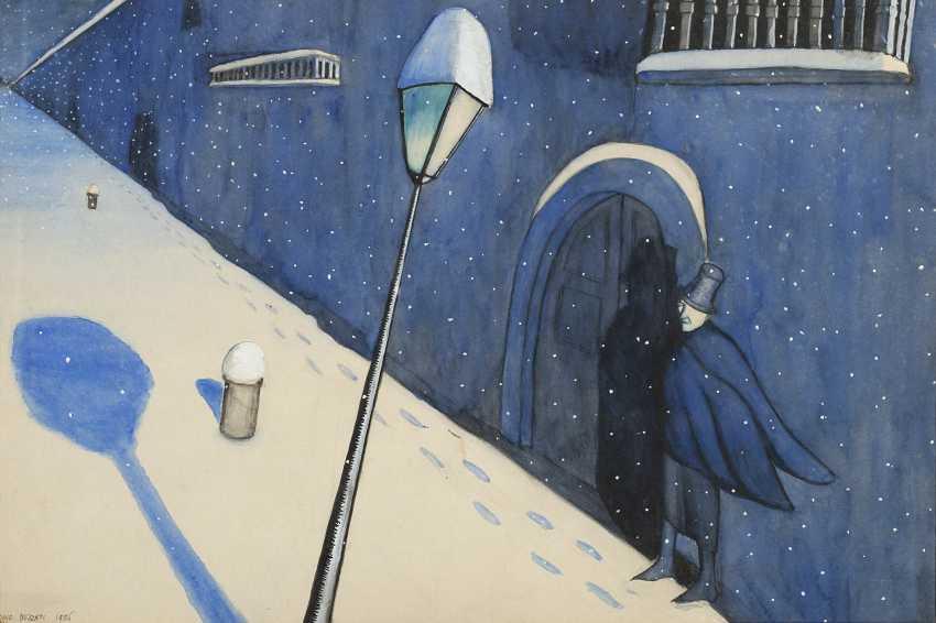 Uomo in una notte di neve 1926 - photo 1