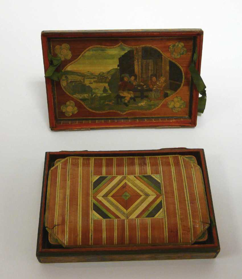 Game of stones - box with fine Rhine - motifs to 1860/80 - photo 2