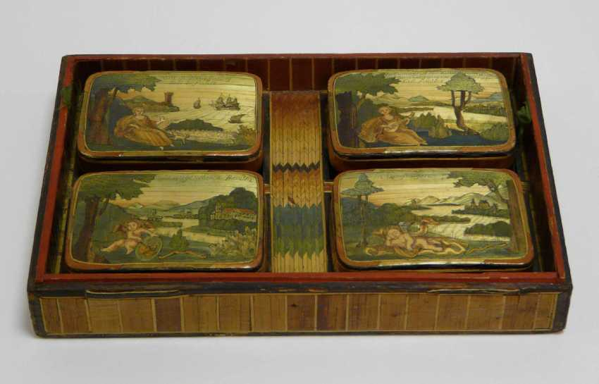 Game of stones - box with fine Rhine - motifs to 1860/80 - photo 3