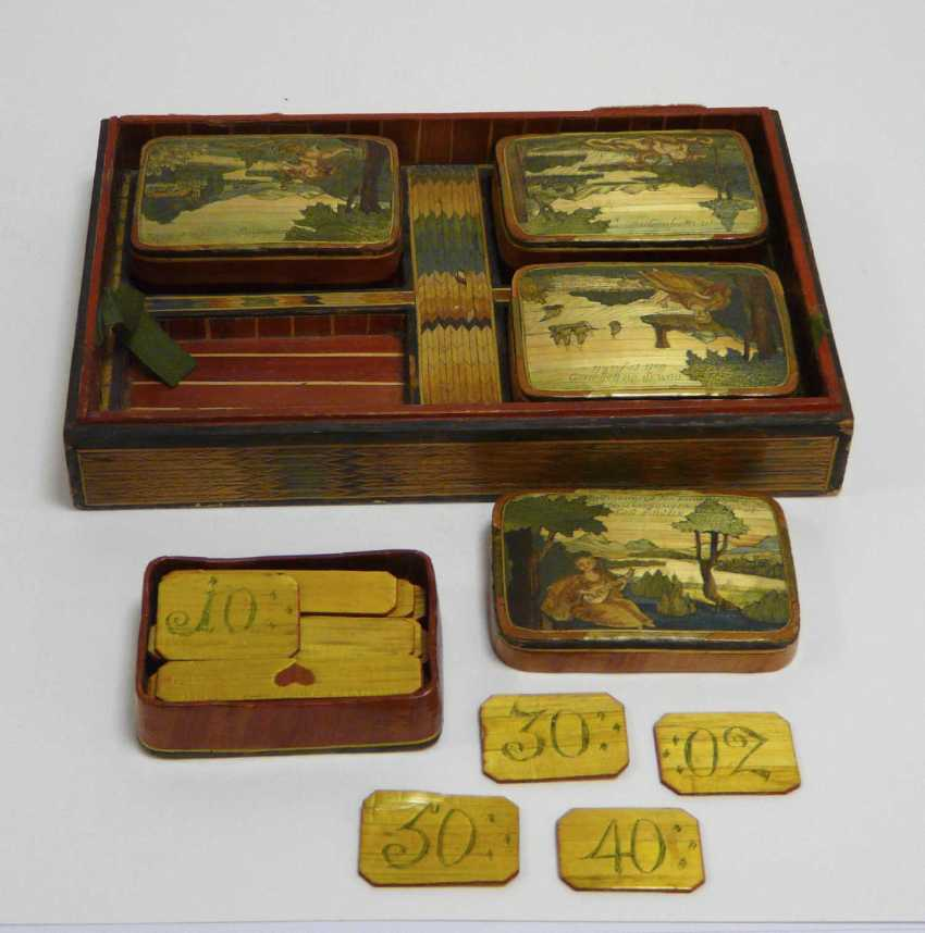 Game of stones - box with fine Rhine - motifs to 1860/80 - photo 4