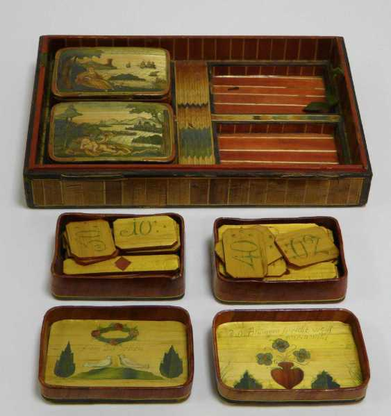 Game of stones - box with fine Rhine - motifs to 1860/80 - photo 5