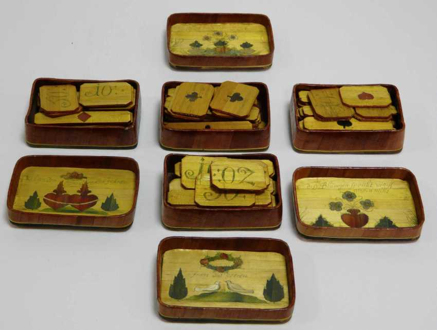 Game of stones - box with fine Rhine - motifs to 1860/80 - photo 6