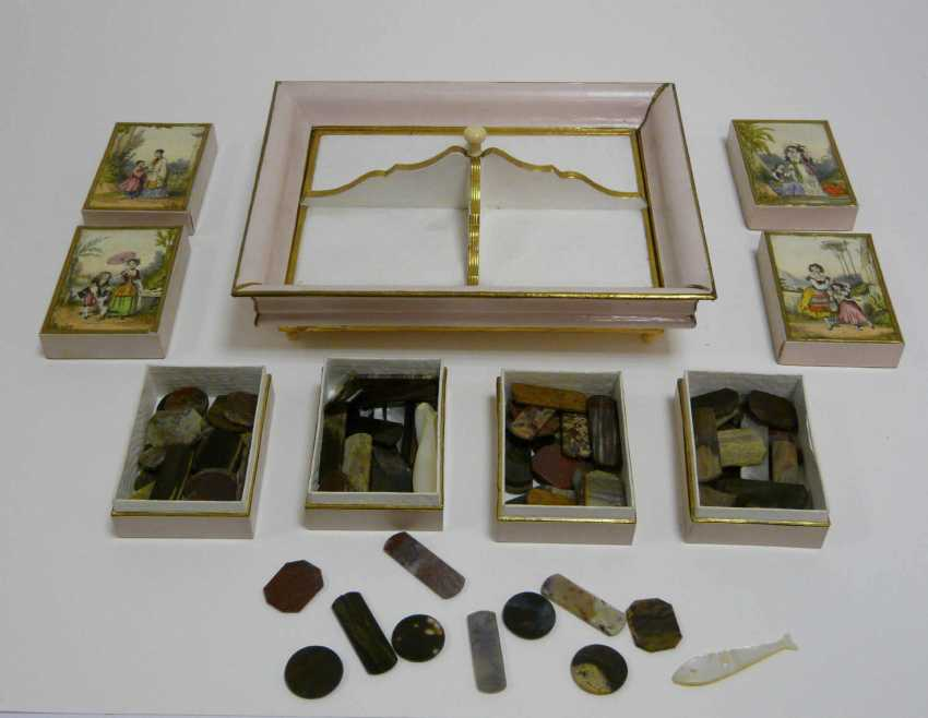 Game of stones - box, probably France, around 1880 / 1900 - photo 3