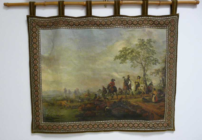Wall hanging with a Baroque hunting scene  - photo 1