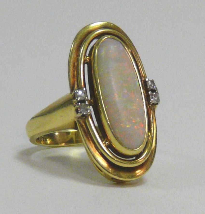 Gold - Opal - Ring - photo 1
