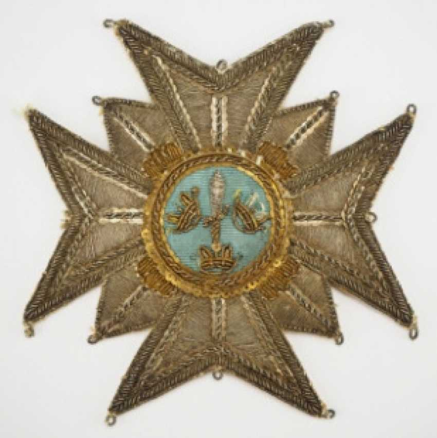 Sweden: Royal Swords-Order, 2nd Model, 1. Type (1772-1871), Grand Cross Breast Star - photo 1