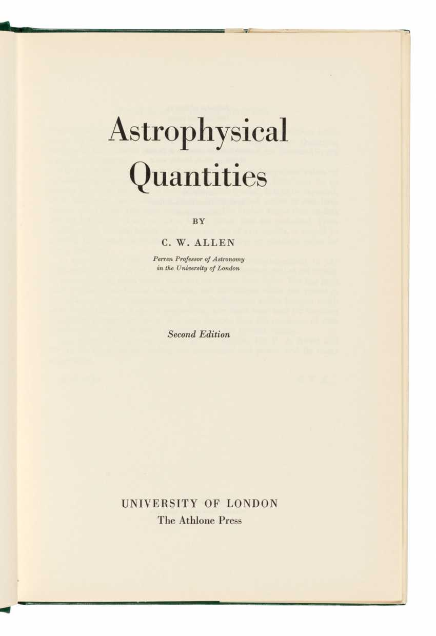 Astrophysical Quantities, with Hawking's ownership inscription - photo 2