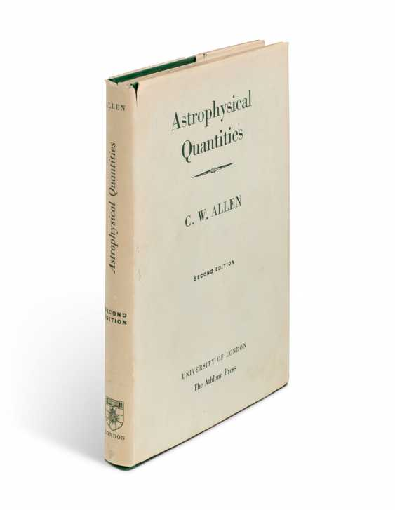 Astrophysical Quantities, with Hawking's ownership inscription - photo 3