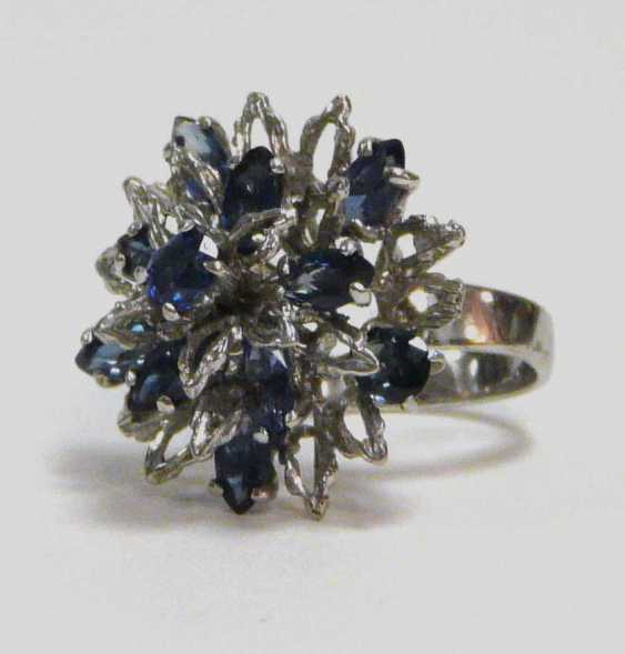 Brillant - Saphir - Ring - photo 1