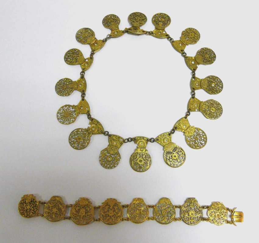 Necklace and bracelet of spindle-watches - clamp  - photo 1