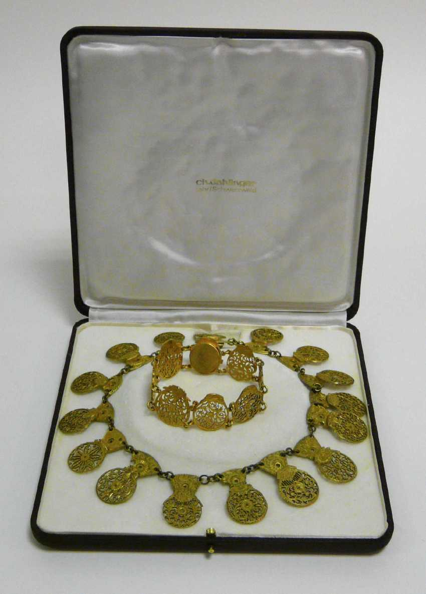 Necklace and bracelet of spindle-watches - clamp  - photo 3