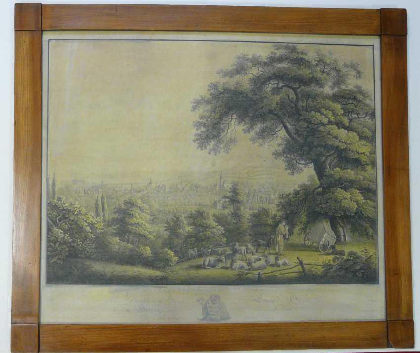 Фридрих Вильгельм роте, общий вид Кобург (по Ludwig Richter) в 1820 году - фото 1