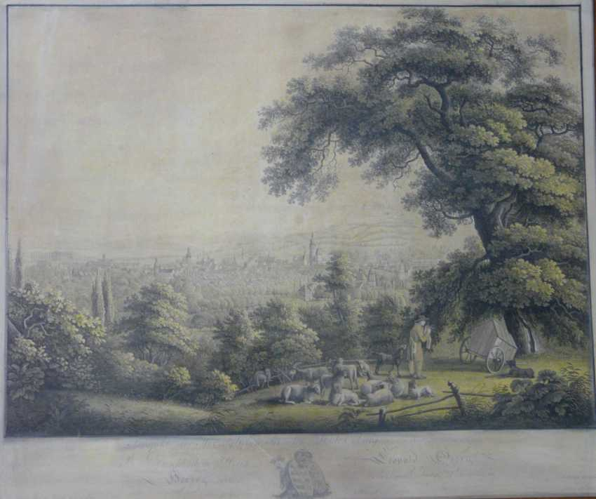 Фридрих Вильгельм роте, общий вид Кобург (по Ludwig Richter) в 1820 году - фото 2