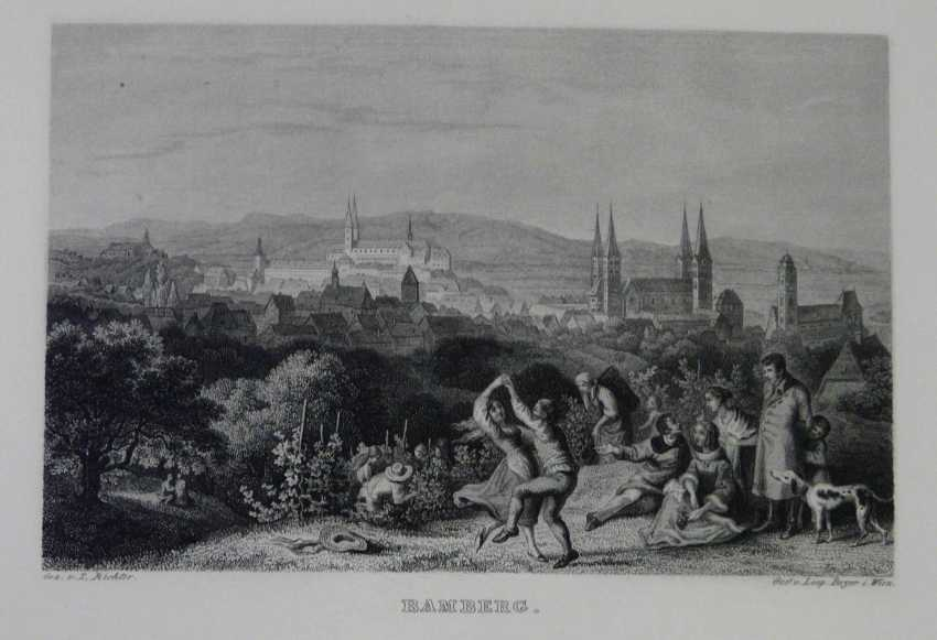 Large collection of steel engravings with Franconian views  - photo 1