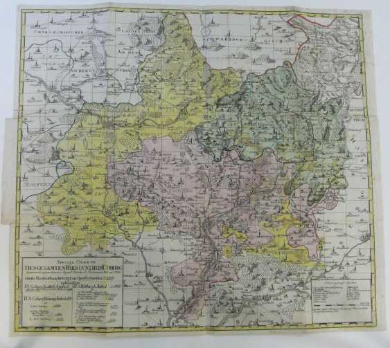 August B. Frommann, Copper Engraving Map Of Coburg 1783 - photo 2