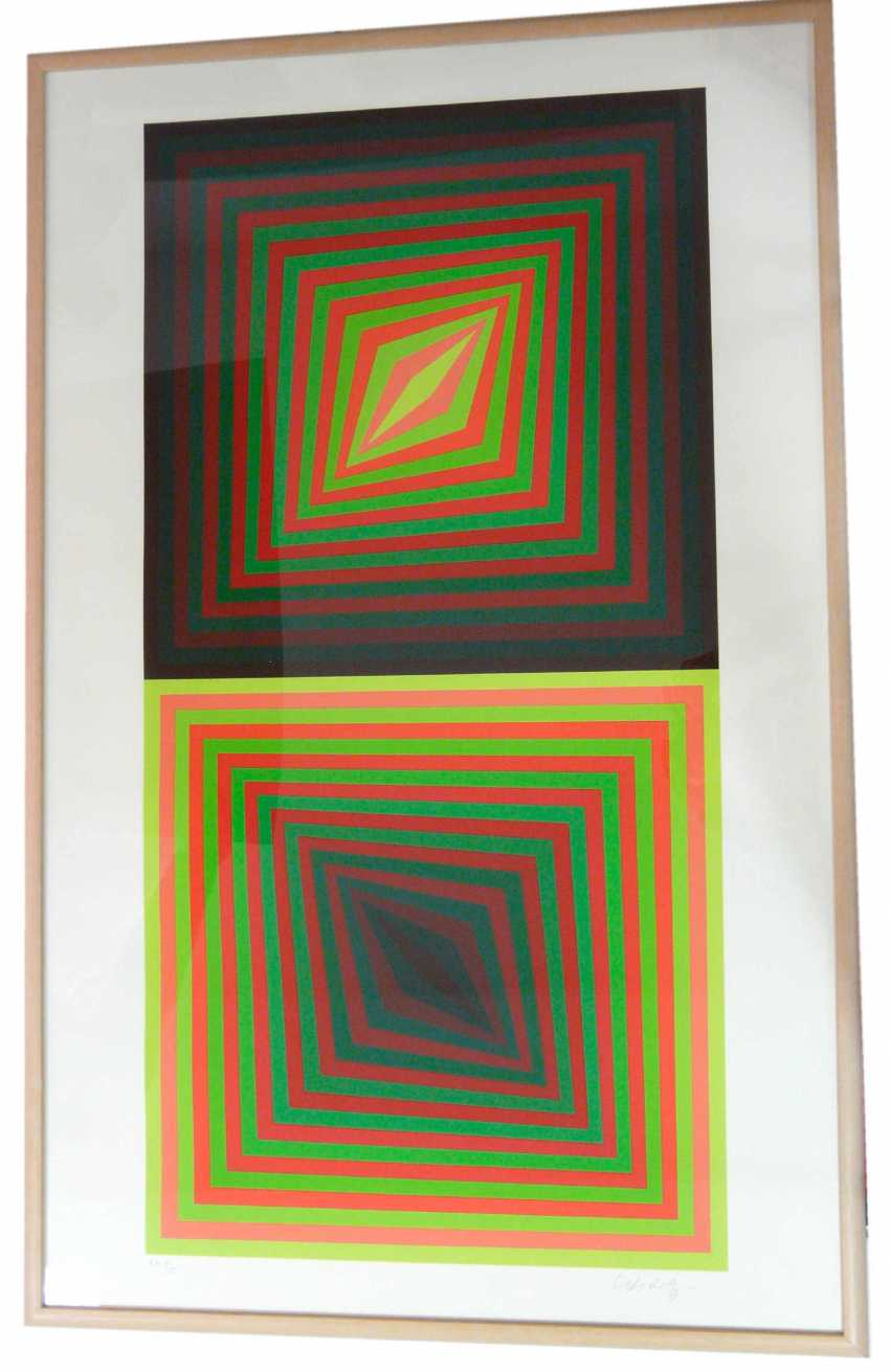 Victor Vasarely, Kinetische abstrakte Komposition - Op Art - photo 1