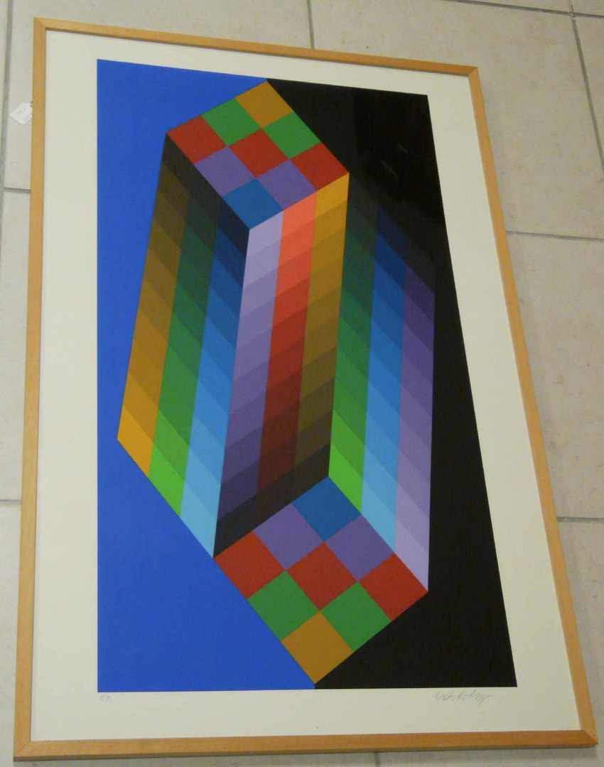 Victor Vasarely, Kinetic circular shapes of the compositions - On type (Am Carried out) - photo 3