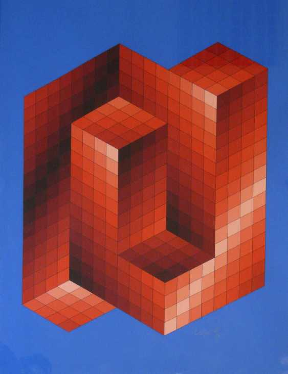 Victor Vasarely, Kinetic, abstract composition, Op Art (Ex. No. 24 of 25) - photo 1