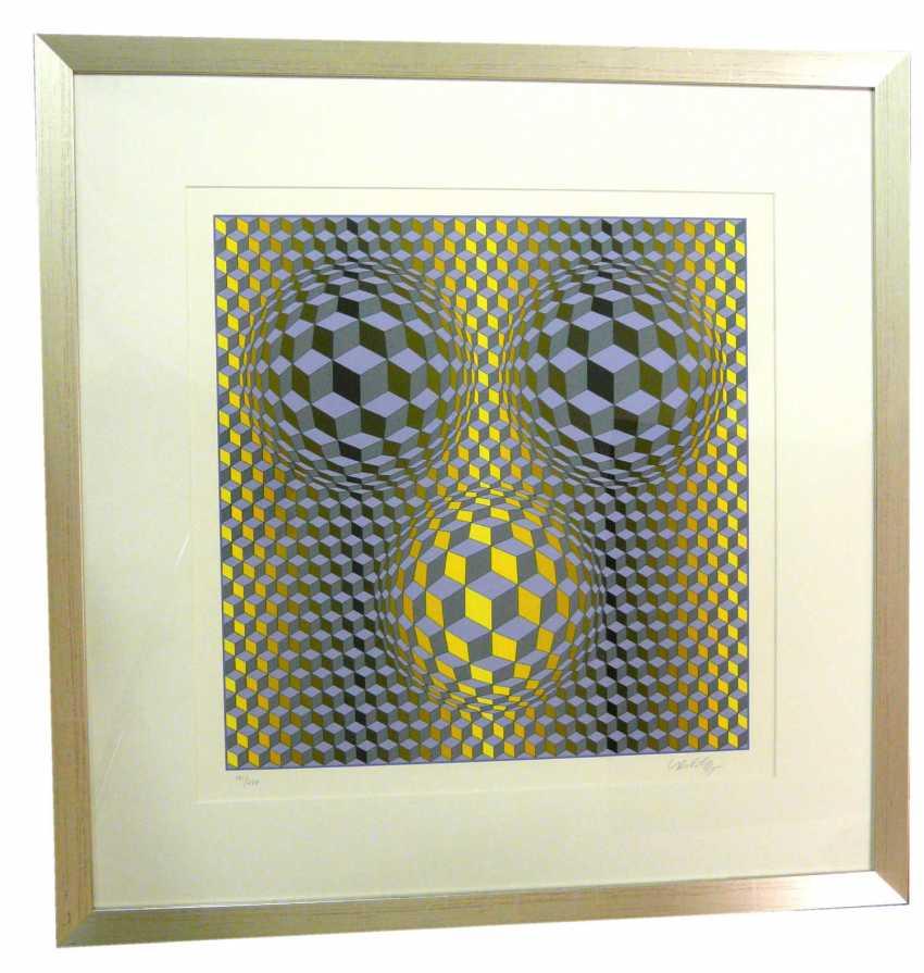 "Victor Vasarely, ""Rikka"" (Kinetische abstrakte Komposition - Op Art) - photo 1"