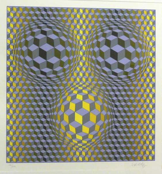 "Victor Vasarely, ""Rikka"" (Kinetische abstrakte Komposition - Op Art) - photo 2"