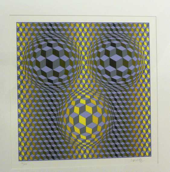"Victor Vasarely, ""Rikka"" (Kinetische abstrakte Komposition - Op Art) - photo 3"