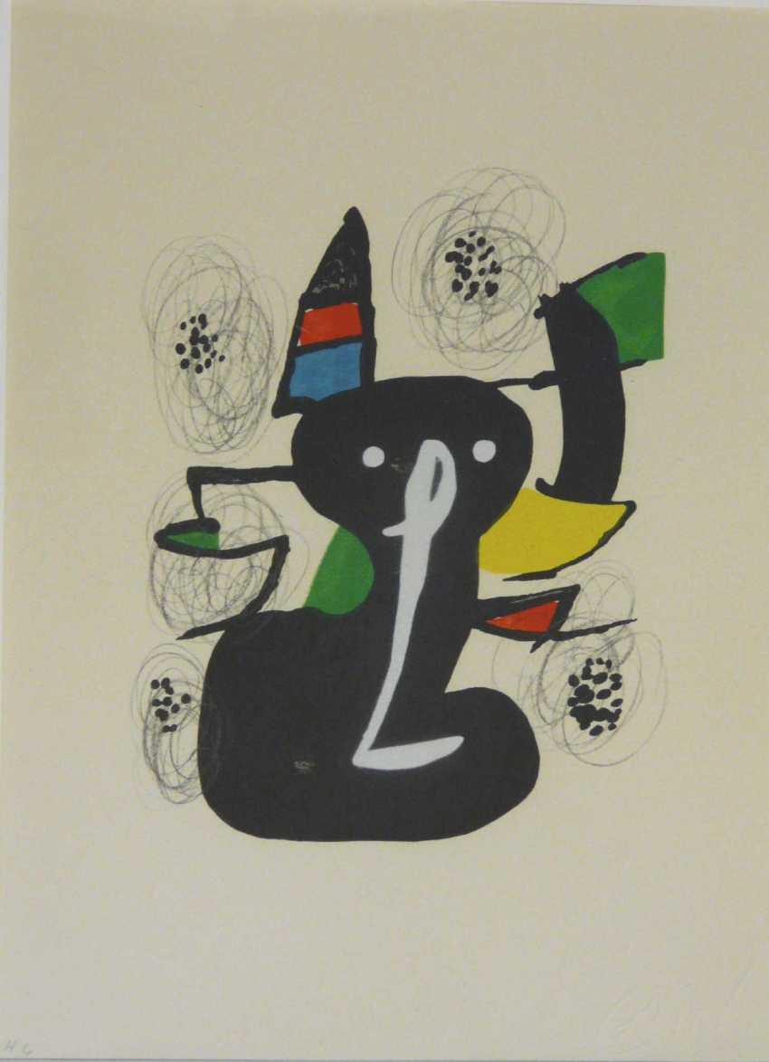 Joan Miro, Black Cat (Colour Lithograph) - photo 1