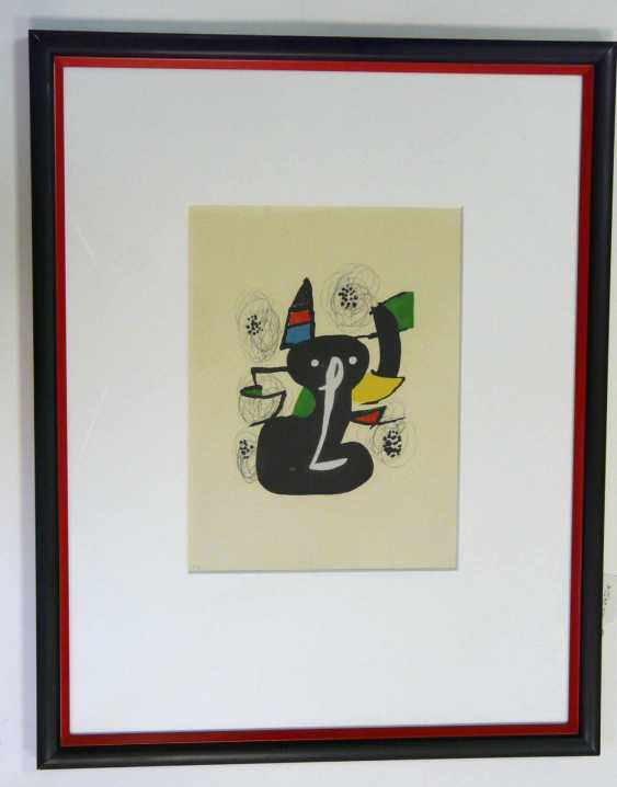 Joan Miro, Black Cat (Colour Lithograph) - photo 2