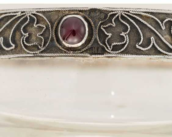 THREE GEM-SET AND ENAMEL SILVER, GOLD AND HARDSTONE MINIATURE BOWLS - photo 6