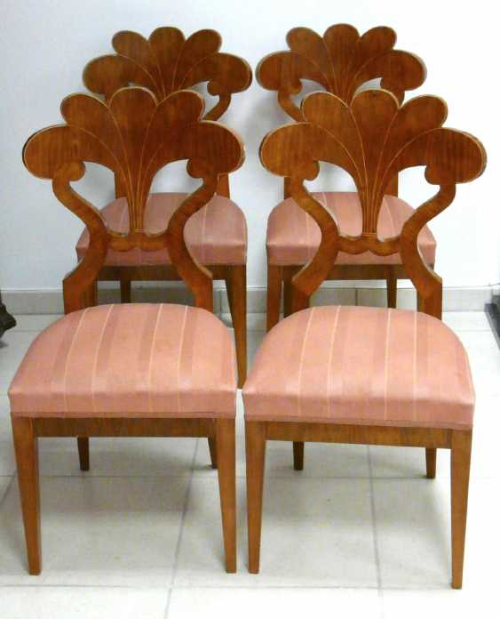 Four chairs in the Biedermeier style - photo 1