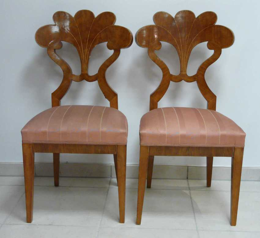 Four chairs in the Biedermeier style - photo 3