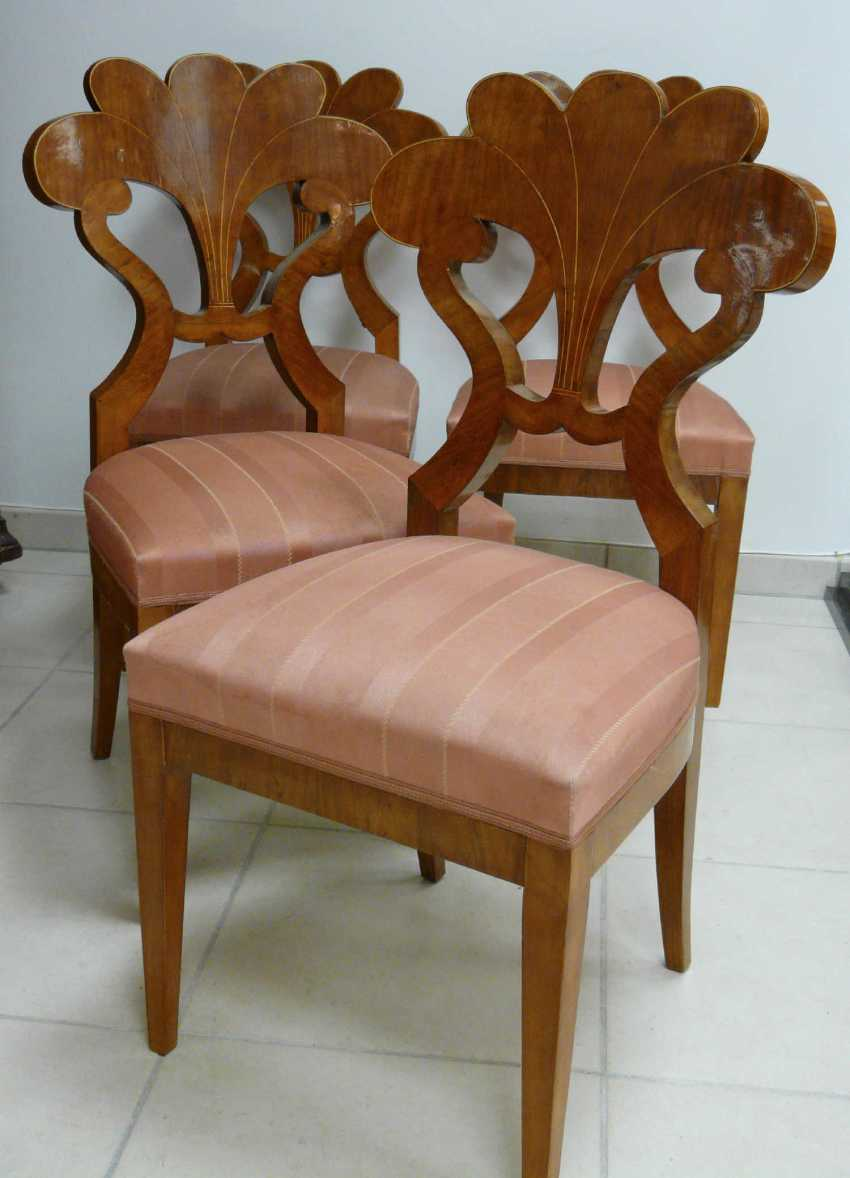 Four chairs in the Biedermeier style - photo 4