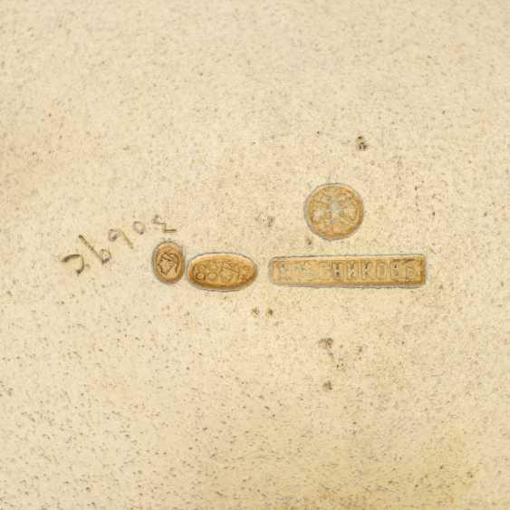 A GUILLOCHÉ, CHAMPLEVÉ AND PLIQUE-À-JOUR ENAMEL SILVER-GILT SHERBET CUP, STAND AND SPOON - photo 2