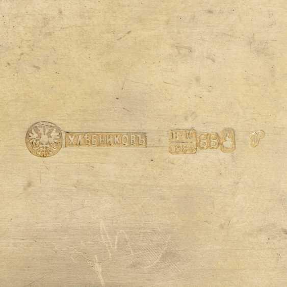 A LARGE CLOISONNÉ ENAMEL SILVER-GILT CASKET - photo 3
