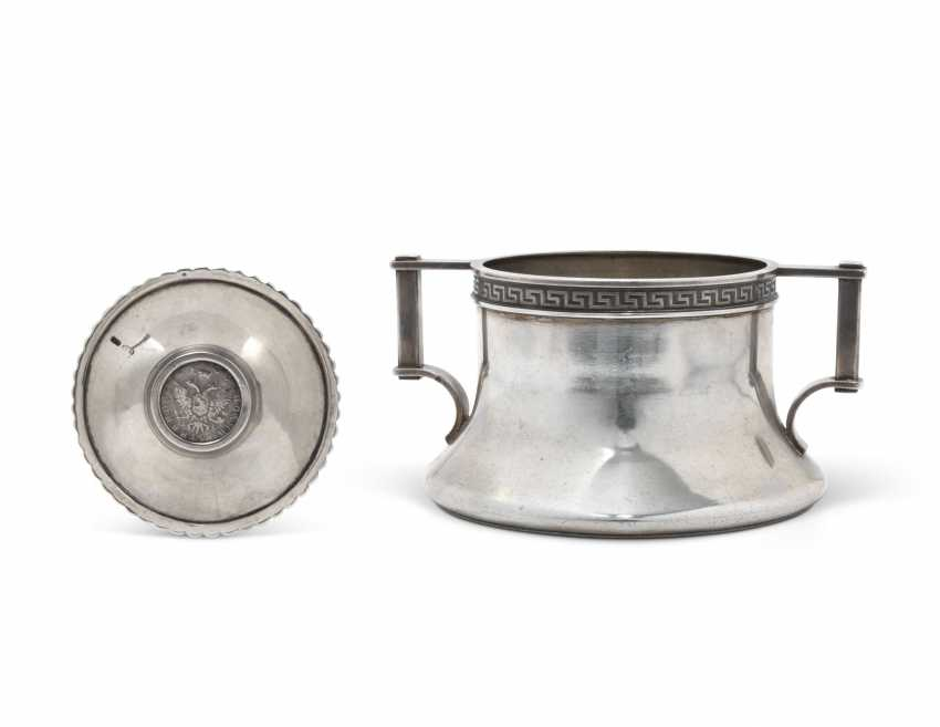A SILVER BOWL AND A MINIATURE DISH - photo 2