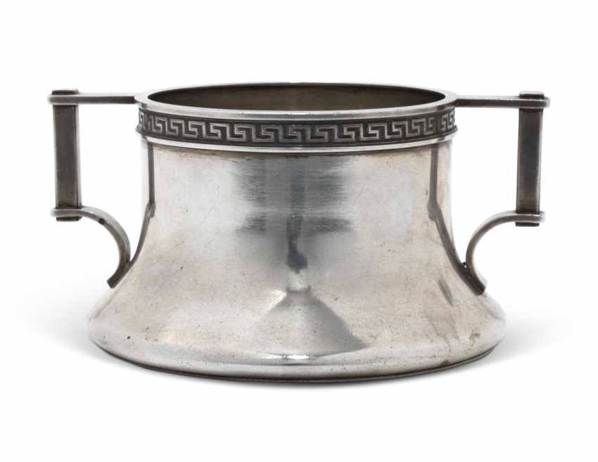 A SILVER BOWL AND A MINIATURE DISH - photo 3
