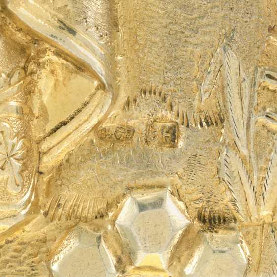 A CLOISONNÉ AND CHAMPLEVÉ ENAMEL SILVER-GILT ICON OF ST BORIS AND GLEB - photo 3