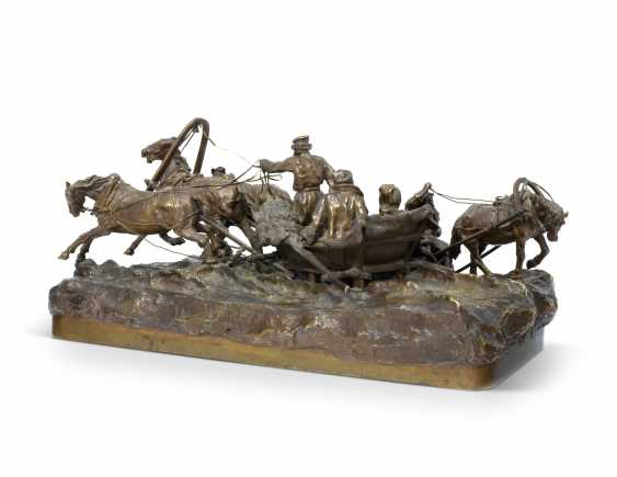 A BRONZE MODEL OF A TROIKA - photo 2