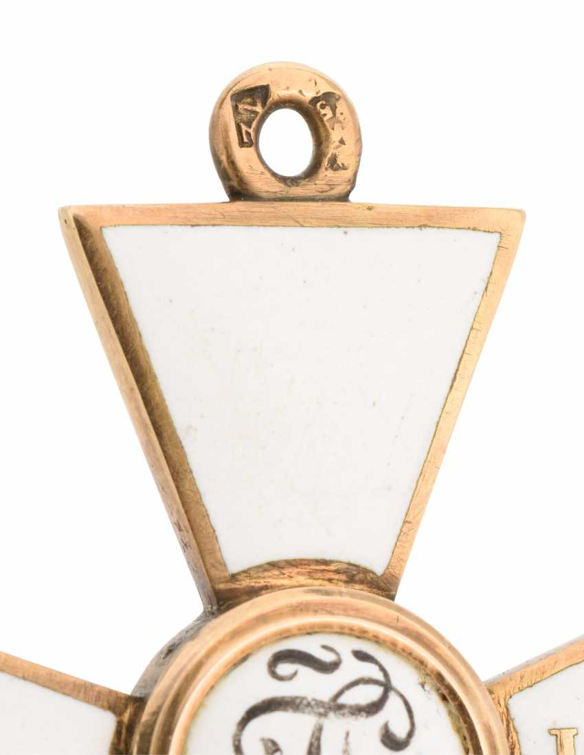 A RARE GOLD AND ENAMEL CROSS OF THE ORDER OF ST GEORGE, FOURTH CLASS, FOR 18 CAMPAIGNS AT SEA - photo 3